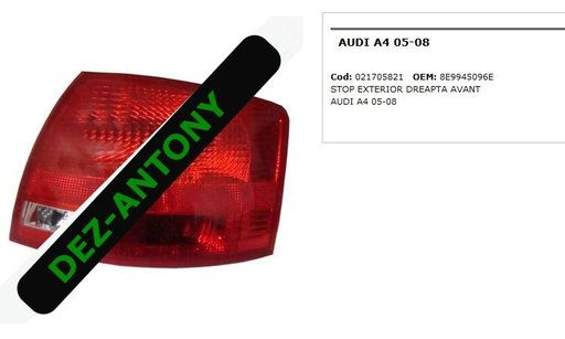 Stop dreapta exterior Audi A4