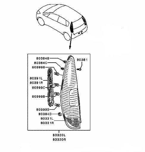 Stop stanga 5 usi Mitsubishi Colt CZ3 2004 2005 2006 2007 2008