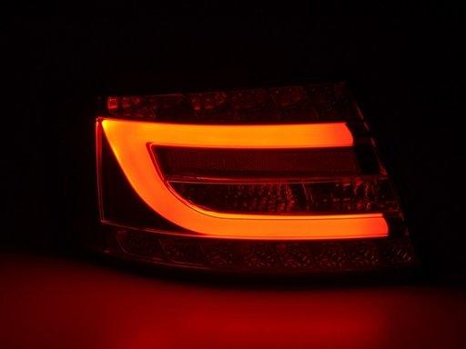 Stopuri AUDI A6 C6 4F cu fibra NEON si LED