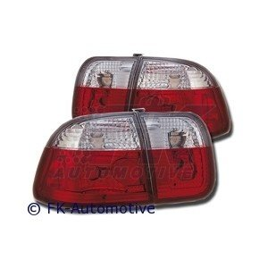 STOPURI CLARE HONDA CIVIC RED/CROM -COD FKRL07041