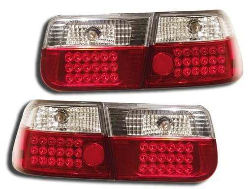 STOPURI CU LED HONDA CIVIC FUNDAL RED/CROM -COD FKRLXLHO109