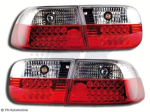 STOPURI CU LED HONDA CIVIC FUNDAL RED/CROM -COD FKRLXLHO015