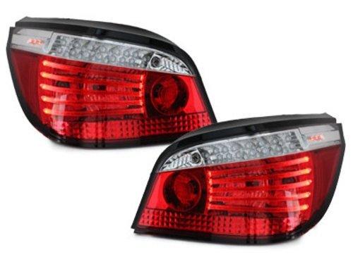 Stopuri LED BMW E60 04.03-03.07 rosu/cristal