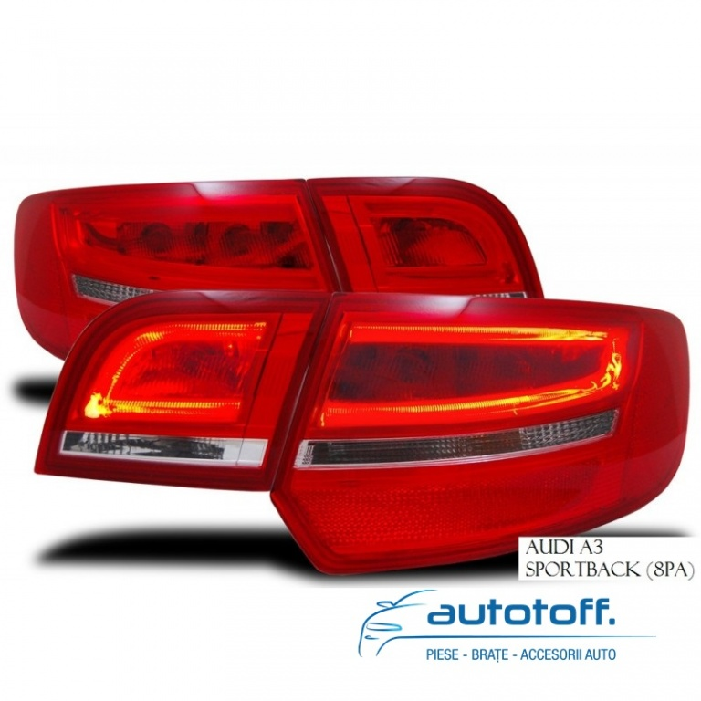 Stopuri LED Fibra Audi A3 8p 2004-2008