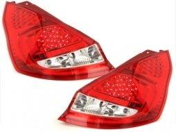 Stopuri LED Ford Fiesta MK 7 08+ 5T rosu/cristal