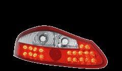 STOPURI LED PORSCHE BOXSTER FUNDAL ROSU-CRISTAL -cod RPO01LLRC