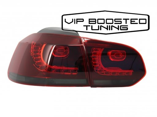 Stopuri LED Volkswagen Golf 6 VI (2008-up) R20 Design Rosu Fumuriu