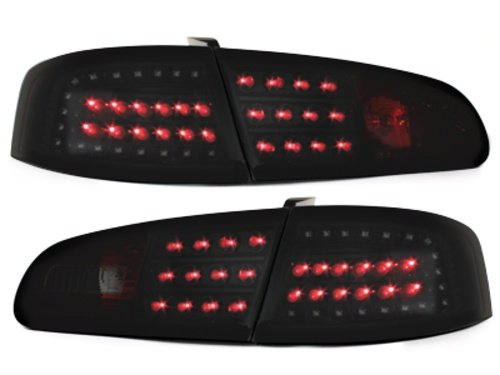 Stopuri LITEC LED Seat Ibiza 6L 02.02-08 negru/fumuriu