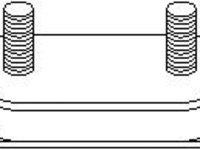 Suport, sistem de esapament VW TRANSPORTER Mk III caroserie, VW TRANSPORTER Mk III platou / sasiu, VW CARAVELLE III bus - TOPRAN 100 634