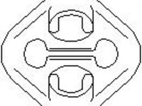 Suport, toba esapament AUDI 500 (43, C2), AUDI 500 (44, 44Q, C3), AUDI 100 limuzina (4A, C4) - TOPRAN 107 226