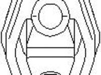 Suport, toba esapament AUDI 90 (8C, B4), AUDI 80 Avant (8C, B4) - TOPRAN 104 402