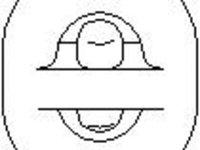Suport, toba esapament AUDI 90 (8C, B4), AUDI 80 Avant (8C, B4), AUDI 4000 (89, 89Q, 8A, B3) - TOPRAN 104 403