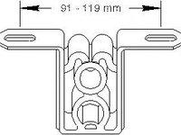 Suport, toba esapament AUDI 90 (8C, B4), AUDI 80 Avant (8C, B4) - TOPRAN 104 401