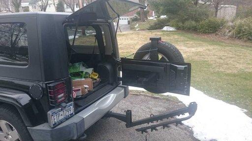 Suport tractare remorcare biciclete dedicat Jeep Wrangler si universal Amplificator semnal radio