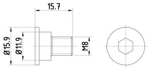 Surub, disc frana BMW 8 (E31), BMW 3 Compact (E36), BMW 3 limuzina (E36) - HELLA PAGID 8DZ 355 209-031