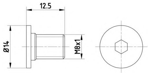 Surub, disc frana MERCEDES-BENZ E-CLASS limuzina (W124), MERCEDES-BENZ E-CLASS Break (S210), MERCEDES-BENZ A-CLASS (W168) - HELLA PAGID 8DZ 355 209-02