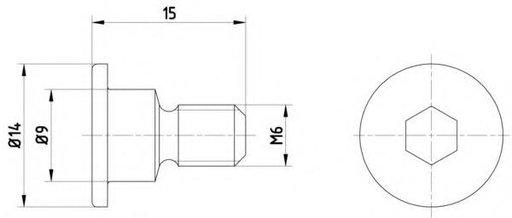 Surub, disc frana MERCEDES-BENZ limuzina (W124), MERCEDES-BENZ S-CLASS limuzina (W126), MERCEDES-BENZ S-CLASS cupe (C126) - HELLA PAGID 8DZ 355 209-01