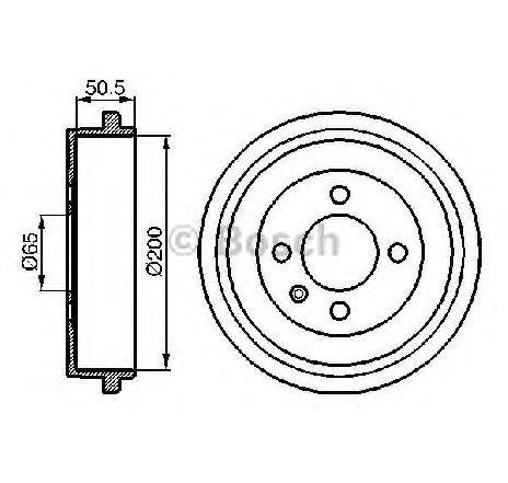 Tambur frana VW LOAD UP ( US ) 12/2014 - 2019 - producator BOSCH 0 986 477 106 - 336247 - Piesa Noua