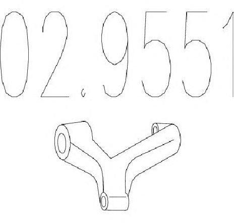 Tampon cauciuc, amortizor esapament AUDI A4 ( 8E2,