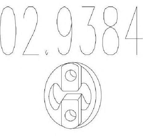 Tampon cauciuc, amortizor esapament MITSUBISHI COLT V ( CJ, CP ) 09/1995 - 09/2003 - piesa NOUA - producator MTS 02.9384 - 301548