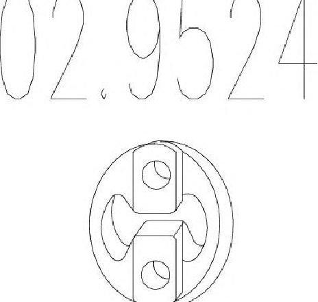 Tampon cauciuc, amortizor esapament VOLVO V40 COMBI ( VW ) 07/1995 - 06/2004 - piesa NOUA - producator MTS 02.9524 - 301514