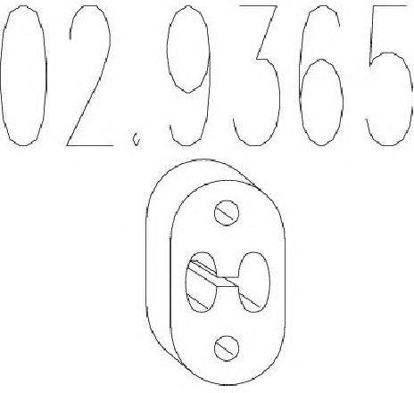 Tampon cauciuc, amortizor esapament VOLVO V70 II ( SW ) 03/2000 - 08/2007 - piesa NOUA - producator MTS 02.9365 - 304600