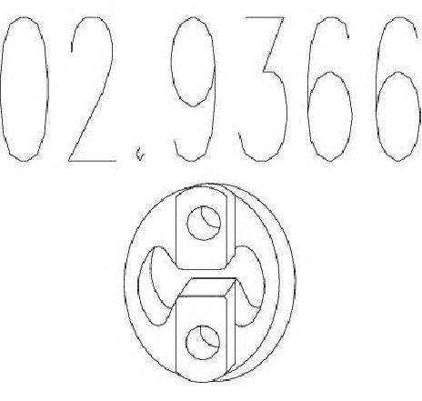Tampon cauciuc, amortizor esapament VOLVO V70 II ( SW ) 03/2000 - 08/2007 - piesa NOUA - producator MTS 02.9366 - 304600