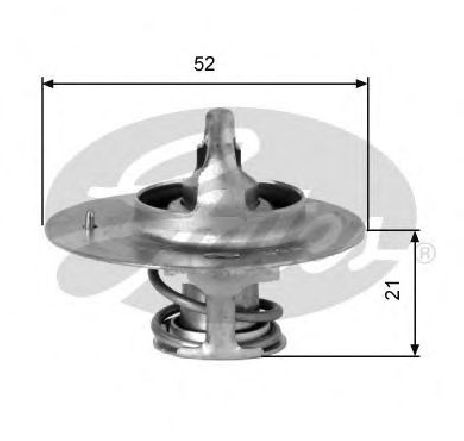 Termostat, lichid racire KIA PRIDE ( DA ) 01/1990 - 2018 - producator GATES TH03282G2 - 301547 - Piesa Noua
