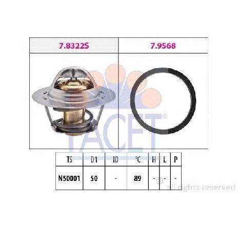 Termostat, lichid racire OPEL VIVARO platou / sasiu ( E7 ) 01/2006 - 2018 - producator FACET 7.8322 - 306712 - Piesa Noua