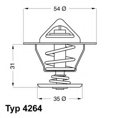 Termostat,lichid racire SEAT CORDOBA limuzina (6K1, 6K2), SEAT TERRA (24), SEAT TERRA caroserie (024A) - WAHLER 4264.84D