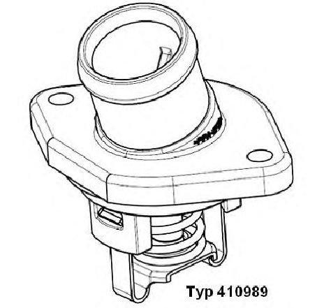 Termostat, lichid racire SKODA FELICIA II ( 6U1 ) 01/1998 - 06/2001 - producator WAHLER 410989.87D - 304075 - Piesa Noua