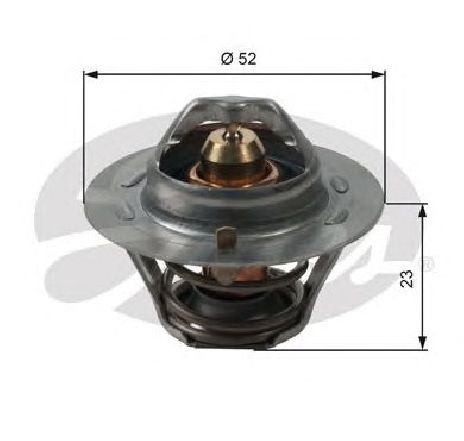 Termostat, lichid racire TOYOTA HILUX II PLATOU / SASIU ( LN6, LN5, YN6, YN5, VZN1, RZN1 08/1983 - 08/2005 - producator GATES TH14088G1 - 306943 - Piesa Noua