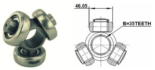 Tripoda planetara fata (la cutie) pentru SANTA FE ll , OUTLANDER ,XTRAIL,JUKE ,RX400H .