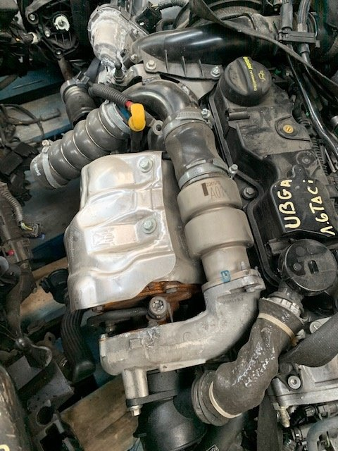 Turbo ford Transit connect an 2017 1.6 Tdci tip motor UBGA,km 500 kw 55,cp 75,cod 9686120680-06