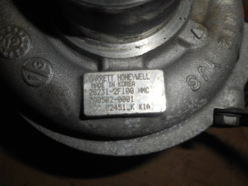Turbo, turbina Hyundai Santa Fe, Sorento, Sportage