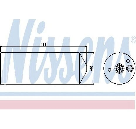 Uscator, aer conditionat CHRYSLER VOYAGER IV ( RG, RS ) 09/1999 - 12/2008 - producator NISSENS 95362 - 300874 - Piesa Noua