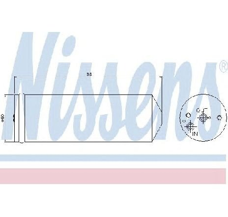 Uscator, aer conditionat TOYOTA LAND CRUISER ( PZJ7, KZJ7, HZJ7, BJ7, LJ7, RJ7 ) 03/1984 - 2019 - producator NISSENS 95065 - 300203 - Piesa Noua