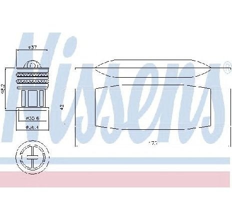Uscator, aer conditionat VW BEETLE CABRIOLET ( 5C7 ) 12/2011 - 2019 - producator NISSENS 95490 - 310735 - Piesa Noua