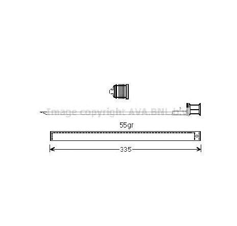 Uscator, aer conditionat VW TRANSPORTER V bus ( 7HB, 7HJ, 7EB, 7EJ, 7EF, 7EG, 7HF, 7EC ) 04/2003 - 2018 - producator AVA QUALITY COOLING MSD601 - 305005 - Piesa Noua