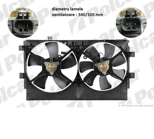 Ventilatoare racire pentru Mitsubishi Lancer , Outlander , ASX MR312899 1355A095