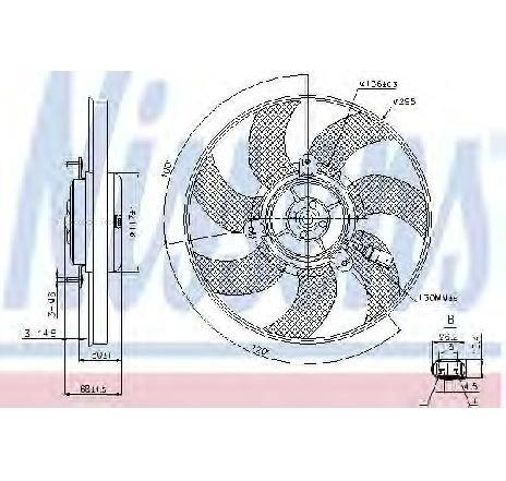 Ventilator, radiator dreapta VW BEETLE CABRIOLET ( 5C7 ) 12/2011 - 2019 - producator NISSENS 85733 - 310735 - Piesa Noua