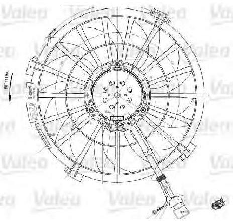 Ventilator, radiator PEUGEOT 806 ( 221 ) 06/1994 - 08/2002 - producator VALEO 698542 - 300049 - Piesa Noua