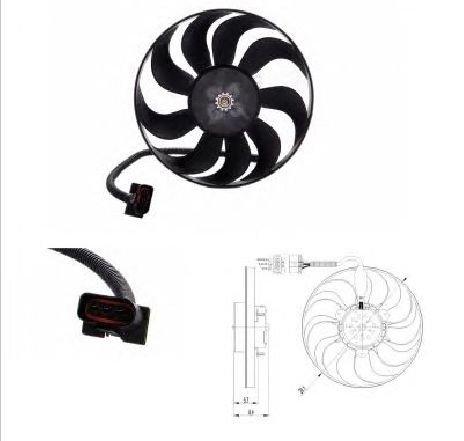 Ventilator, radiator VW LUPO ( 6X1, 6E1 ) 09/1998 - 07/2005 - producator NRF 47398 - 303398 - Piesa Noua