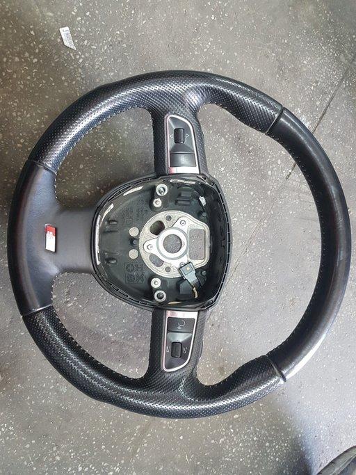 Volan din piele cu padele Audi Q5 S- Line