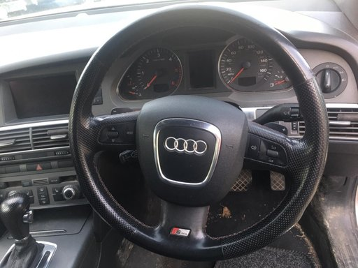 Volan piele cu comenzi s-line fara airbag Audi A6 C6 break 3.0tdi BMK an 2006