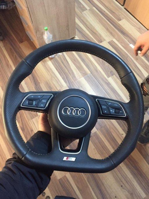 Volan tesit S-line cu padele si airbag A4,A5 2018