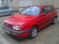 VW GOLF 3, 1.6 Benzina, an 1994, rosu, 55 kw