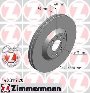 Zimermann disc frana fata cu r330mm pt peugeot 407,607