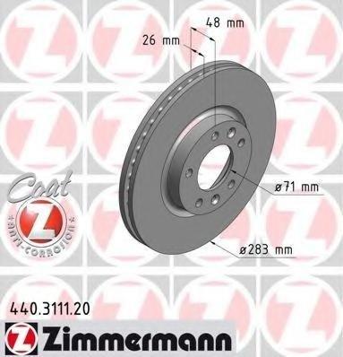 Zimermann disc frana fata pt peugeot 407,508,607