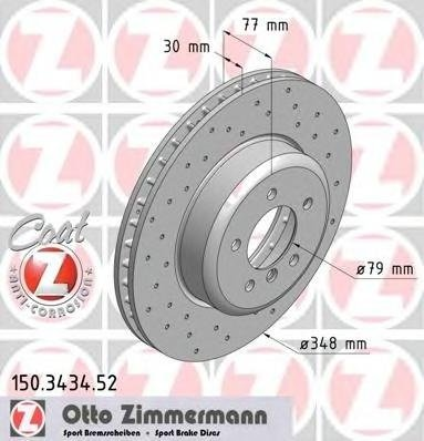 Zimermann sport disc frana fata pt bmw 5(e60)